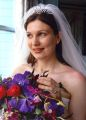 Wedding in Portmeirion with flowers by Catrin Clark